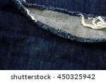 Small photo of blue denim abrade background texture