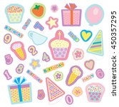 a set of colored images for the ... | Shutterstock .eps vector #450357295