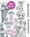 ice cream menu placemat food... | Shutterstock .eps vector #450359788