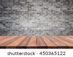 empty top wooden table and... | Shutterstock . vector #450365122