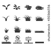grass icon | Shutterstock .eps vector #450366556