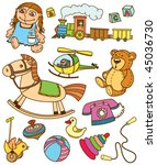 collection of retro colourful... | Shutterstock .eps vector #45036730