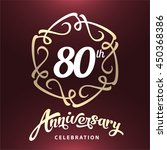 80 years anniversary template... | Shutterstock .eps vector #450368386