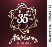 35 years anniversary template...   Shutterstock .eps vector #450368416
