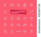 wedding outline icons set | Shutterstock .eps vector #450369736