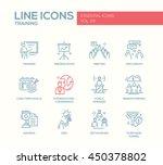business training   modern... | Shutterstock .eps vector #450378802