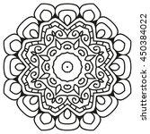 mandala for painting. vector... | Shutterstock .eps vector #450384022