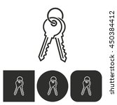 key   black and white icons.... | Shutterstock .eps vector #450384412