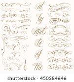 handmade tattoo lettering and... | Shutterstock .eps vector #450384646