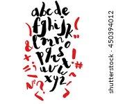 alphabet written in free style... | Shutterstock .eps vector #450394012