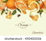 vector orange seamless... | Shutterstock .eps vector #450403336