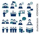 employee  employees icon set | Shutterstock .eps vector #450404356