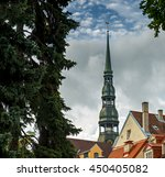 medieval church of saint peter... | Shutterstock . vector #450405082