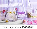 process of making perfumes | Shutterstock . vector #450408766