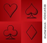 four card suits hearts spade... | Shutterstock .eps vector #450414538