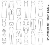 set of woman clothes icons ... | Shutterstock .eps vector #450415312