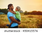 happy family. father and son... | Shutterstock . vector #450415576
