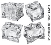 set of four ice cubes in gray... | Shutterstock . vector #450418246