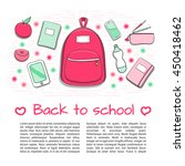 back to school background with... | Shutterstock .eps vector #450418462