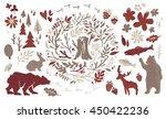 handsketched elements of... | Shutterstock .eps vector #450422236