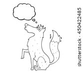 freehand drawn thought bubble... | Shutterstock . vector #450422485