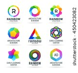 set of abstract rainbow symbols ... | Shutterstock .eps vector #450423082