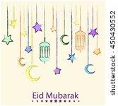 eid mubarak greeting card or... | Shutterstock .eps vector #450430552