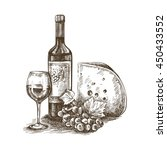 hand drawn sketch of bottle of... | Shutterstock .eps vector #450433552