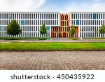 typical modern new office or... | Shutterstock . vector #450435922