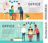 business cartoon characters.... | Shutterstock .eps vector #450438826