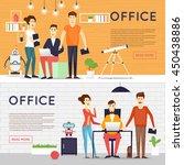 business cartoon characters.... | Shutterstock .eps vector #450438886