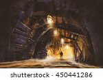 Inside Of The Mine Shaft With...