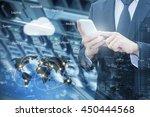 double exposure of professional ... | Shutterstock . vector #450444568