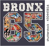 bronx new york   artwork for... | Shutterstock .eps vector #450445816