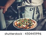 chef cooking a gourmet tasty... | Shutterstock . vector #450445996