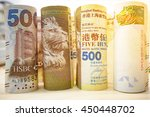 close up of hong kong dollar... | Shutterstock . vector #450448702