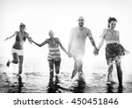 friendship freedom beach summer ...   Shutterstock . vector #450451846