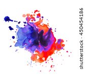 abstract watercolor smear with... | Shutterstock .eps vector #450454186