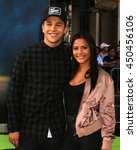 Small photo of LOS ANGELES - JUL 9: Austin Mahone, Katya Henry at the Ghostbusters Premiere at the TCL Chinese Theater IMAX on July 9, 2016 in Los Angeles, CA