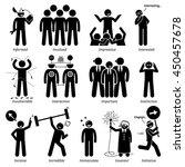 positive personalities... | Shutterstock . vector #450457678
