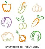 vegetables | Shutterstock .eps vector #45046087