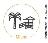 miami  united states  outline... | Shutterstock .eps vector #450462088