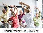 seniors doing exercises in a... | Shutterstock . vector #450462928