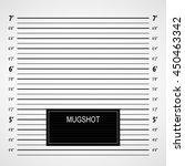police lineup or mugshot... | Shutterstock .eps vector #450463342