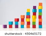growning stack of colorful wood ... | Shutterstock . vector #450465172