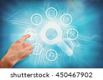 hand pointing against abstract... | Shutterstock . vector #450467902