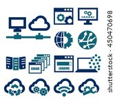 network  server icon set | Shutterstock .eps vector #450470698