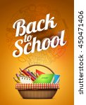 back to school poster with... | Shutterstock .eps vector #450471406
