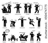 negative personalities... | Shutterstock .eps vector #450474775