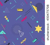 trendy geometric elements... | Shutterstock .eps vector #450475708